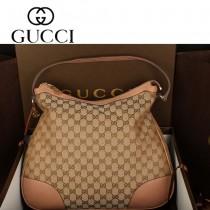 GUCCI 336754 新款女包 帆布雙G面料圓底包 單肩手提包