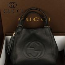 GUCCI 336751 新款複古女包單肩斜跨手提皺漆皮包包