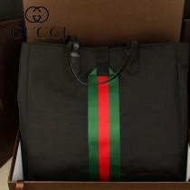GUCCI 337069 新款男包帆布購物袋商務包公文包旅行包手提包