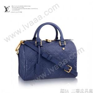 LV M40792-5 時尚女士寶藍色全皮壓花BANDOULIÈRE 25系列手袋單肩手提包
