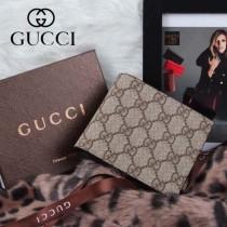 GUCCI 115169-1 古馳新款咖啡色PVC短夾 時尚短款錢包