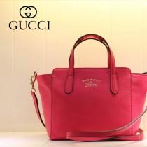 GUCCI 368827-2 古馳新款紅色全皮小號女士手提包 時尚單肩包