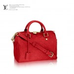 LV M41187 時尚女士紅色全皮壓花BANDOULIÈRE 25系列手袋單肩手提包