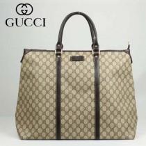 GUCCI 201482-1  古馳新款咖啡色PVC時尚手提包 休閒公文包