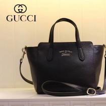 GUCCI 368827-1 古馳新款黑色全皮小號女士手提包 時尚單肩包