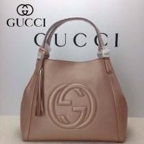 GUCCI 282309-2 古馳新款中號粉金色全皮女士手提包 時尚單肩包