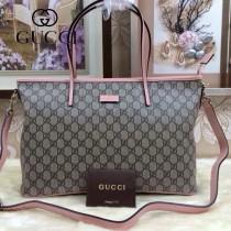 GUCCI 353437 古馳新款PVC配粉色皮 女士單肩斜背包