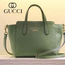 GUCCI 368827-3 古馳新款淺綠色全皮小號女士手提包 時尚單肩包