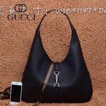GUCCI 362968-1 古馳新款黑色全皮女士手提包 時尚單肩包