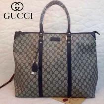 GUCCI 201482-2  古馳新款藍色PVC時尚手提包 休閒公文包