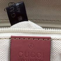 GUCCI 353437-4 古馳新款PVC配淺玫紅色皮 女士單肩斜背包