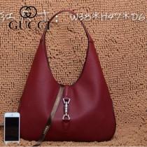 GUCCI 362968-2 古馳新款酒紅色全皮女士手提包 時尚單肩包