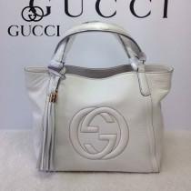 GUCCI 336751-13 古馳新款mini白色全皮流蘇斜背包