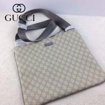 GUCCI 201446-3 古馳新款灰色PVC男士斜背包 時尚單肩斜挎包