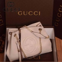 GUCCI 308982-01 古馳新款白色全皮 女士手提包 時尚單肩包