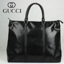 GUCCI 201482  古馳新款黑色PVC時尚手提包 休閒公文包