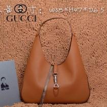 GUCCI 362968-4 古馳新款杏色全皮女士手提包 時尚單肩包