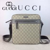GUCCI 201448-4 古馳新款灰色PVC男士斜背包  時尚單肩包