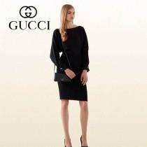 GUCCI 369231-1 古馳新款黑色全皮手拿包 女士長款錢夾