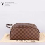 LV N47528 新款休閒咖啡棋盤格男女款通用包手拿包化妝包