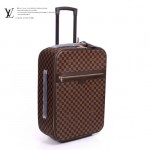 LV N23256-2 新款咖啡棋盤格男女款休閒拉杆箱行李箱