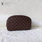 LV N47527-4 新款休閒咖啡棋盤格男女款通用包手拿包化妝包