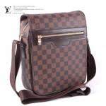 LV N51214-2 時尚新款男士必备咖啡棋盤格商務單肩包
