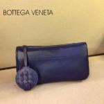 BV 1010-2 新款進口牛皮手包男女包 寶藍色BV風格手拿包