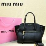 MiuMiu 0068 -00 時尚休閒黑色原版皮女性包包手提包