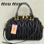 MiuMiu0058-7時尚休閒褶皺深藍羊皮女包手提包