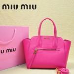 MiuMiu 0068 -02 時尚休閒玫紅原版皮女性包包手提包
