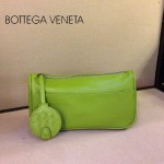 BV 1010-3 新款進口牛皮手包男女包 果綠色BV風格手拿包