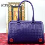 BV 3381-6 新款時尚女包純手工編織女包紫色單肩手提包女包