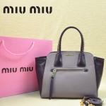 MiuMiu 0068 -01 時尚休閒深紫配淺紫原版皮女性包包手提包