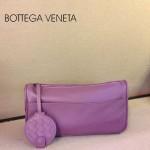 BV 1010-9 新款進口牛皮手包男女包 紫色BV風格手拿包