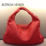 BV 5092-16 BV風格餃子包新編織女包紅色單肩手提包