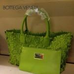 BV 5216 新款時尚休閒潮流手提果綠色女士菜籃子包