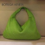BV 5092-13 BV風格餃子包 進口綿羊皮全手工編織女包果綠色單肩手提包