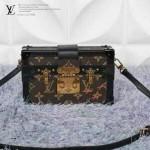 LV M94219 歐美復古范冰冰同款限量版mini行李箱手拿單肩包