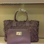BV 5216-2 新款時尚休閒潮流手提淺紫色女士菜籃子包