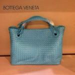 BV 7001-5 新款女士潮流個性休閒天藍色手提編織包