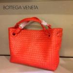 BV 7001-2 新款女士潮流個性休閒紅色手提編織包