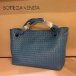 BV 7001-6 新款女士潮流個性休閒藍色手提編織包
