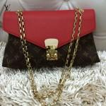 LV M41200-2 時尚潮流女士PALLAS CHAIN紅色鏈條信封包單肩包