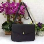 LV M50259-3 歐美流行時尚女士TWINSET黑色全皮壓花單肩包