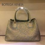 BV 5211-27 新款女士金綠色手提包 菜藍子包編織羊皮包