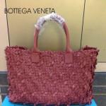 BV 5216-3 新款時尚休閒潮流手提磚紅色女士菜籃子包