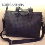 BV-00012 新款時尚男士黑色編織男包斜挎手提商務包包