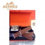 HERMES 0033 愛馬仕潮流百搭原版皮皮帶奢華禮盒