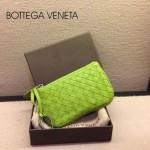 BV-00020-2 bv經典編織小羊皮男女款螢光綠零錢包